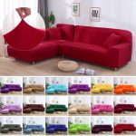 us 184 35 off18color sofa cover elastic stretch slipcovers sectional sofa cover living room couch cover lshape armchair cover 1234seat new in