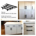 us 1909 black cabinet handles drawer pulls kitchen cabinet hardware 10 pack modern cabinet knobs cupboard handles dresser pulls knobs in cabinet