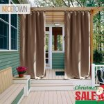 us 2159 20 offnicetown outdoor waterproof curtain tab top thermal insulated blackout curtain drape for patio garden front porch gazebo in curtains