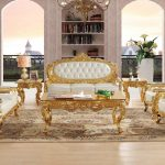 us 23390 royal antique gold gliding carved leather sofa set living room sectional baroque sofa in living room sofas from furniture on aliexpress