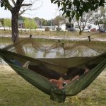 us 2813 single double person portable outdoor camping hammock with mosquito net outdoor camping tent hanging bed hunting sleeping swing in hammocks