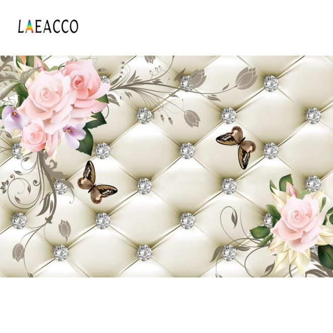 us 369 23 offlaeacco floral headboard bed diamond pattern flowers butterfly scene photographic backgrounds photography photo backdrops studio in
