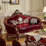 us 55200 procare modern antique quality luxury european style fabric with leather sofa set 1123 living room furniture setluxury europeansofa