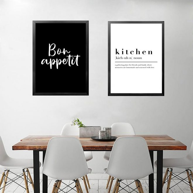 us 559 30 offkitchen dining room wall art prints decorative pictures black and white posters bon appetit quotes wall art canvas paintings on