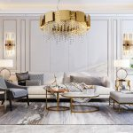 us 6120 20 offmodern crystal chandelier lighting for living room luxury gold round lamp dining room light fixtures led cristal lustre zyrandol in