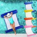us 719 20 offoutdoor folding water hammock inflatable swimming hammock floating bed lounge chair drifter swimming pool floating sleeping bed in