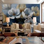 us 999 50 offretro painting poppy flower wallpaper hd photo mural for tv background bedroom wall decor vintage wallpapers murales de pared 3d in