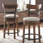 valebeck counter height bar stool set of 2 brown in 2019