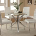 vance contemporary 5 piece glass top table and chair set coaster at value city furniture