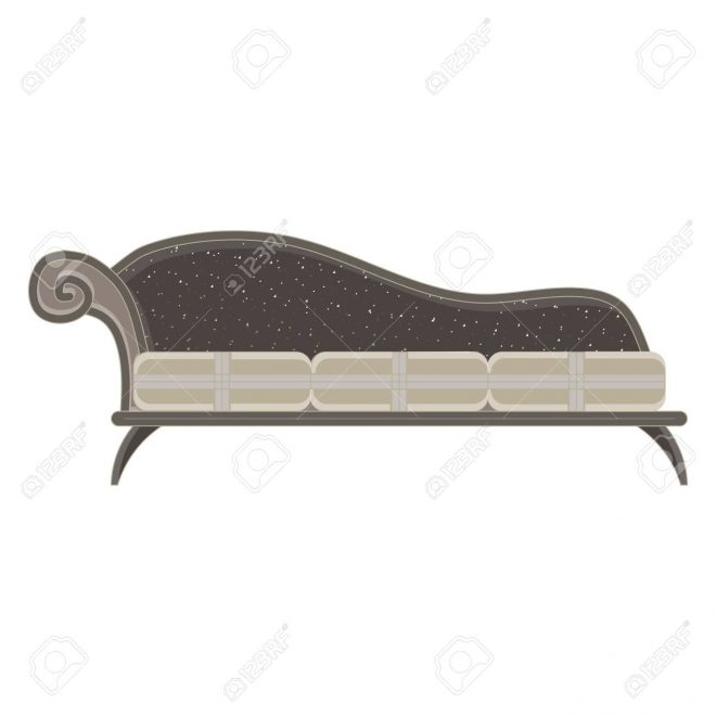 vector classic sofa icon front view isolated luxury furniture