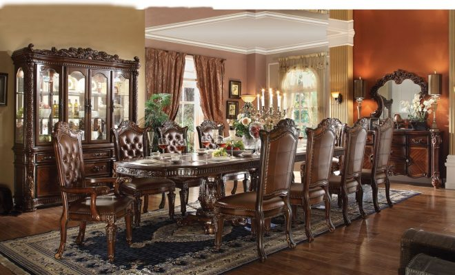 vendome collection formal dining room cherry finish
