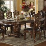 vendome traditional formal dining table acme furniture at dream home interiors