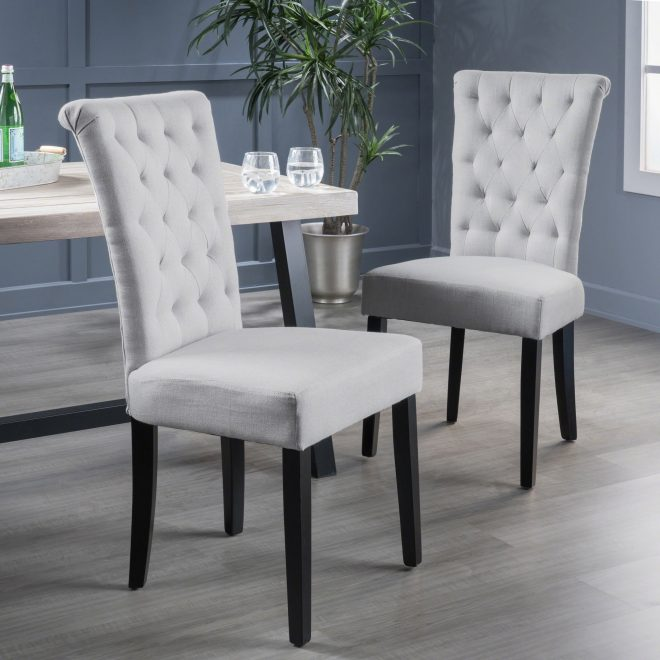 venetian tufted dining chairs set of 2 christopher knight home