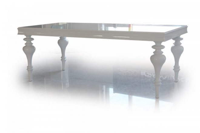 versus bella white lacquer dining table