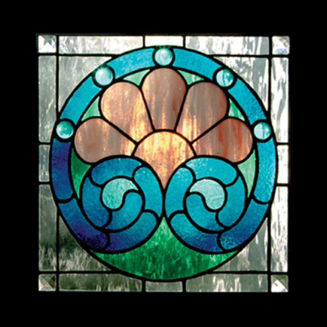 victorian circle stained glass pattern