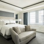 view of the master bedroom in the presidential suite headboards