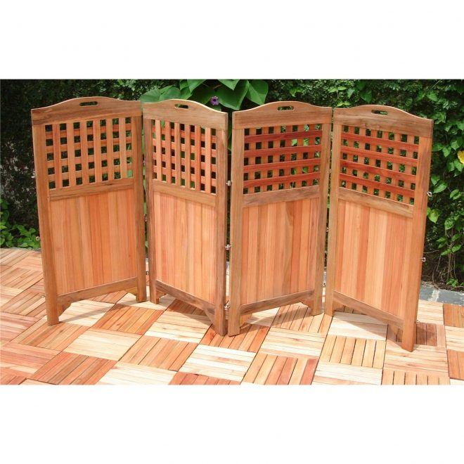 vifah outdoor wood privacy screen 218674 patio furniture