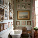 vintage bathroom gallery wall from the book the english