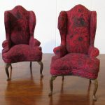 vintage dollhouse furniture wingback chair set doll house