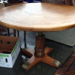 vintage drexel heritage round 42 table with height