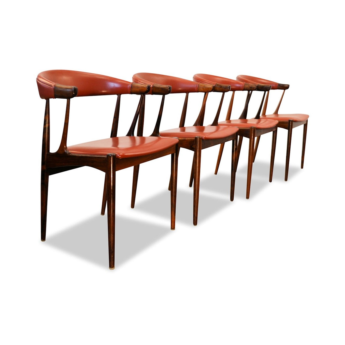 vintage rosewood dining chairs johannes andersen