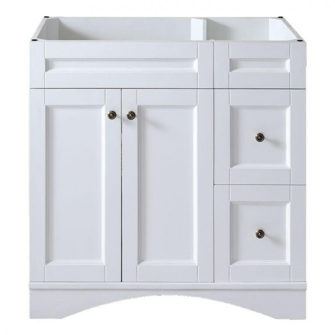 virtu usa elise 36 in w bath vanity cabinet only in white es 32036