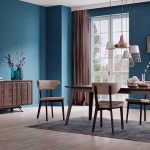wallpaper style retro interior retro dining room dining