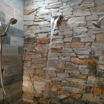 waterfall on stone shower wall waterfall shower in 2019