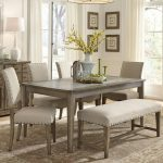 weatherford rustic casual 6 piece dining table and chairs set with bench liberty furniture at johnny janosik