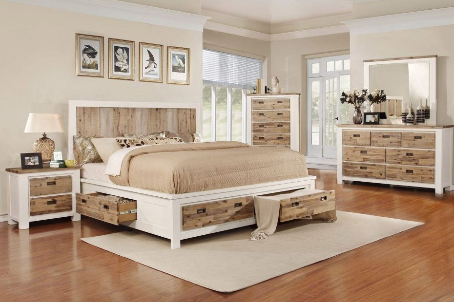 western 5 piece king bedroom set