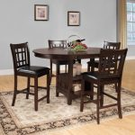 weston home junipero 5 pc counter height dining set dark cherry