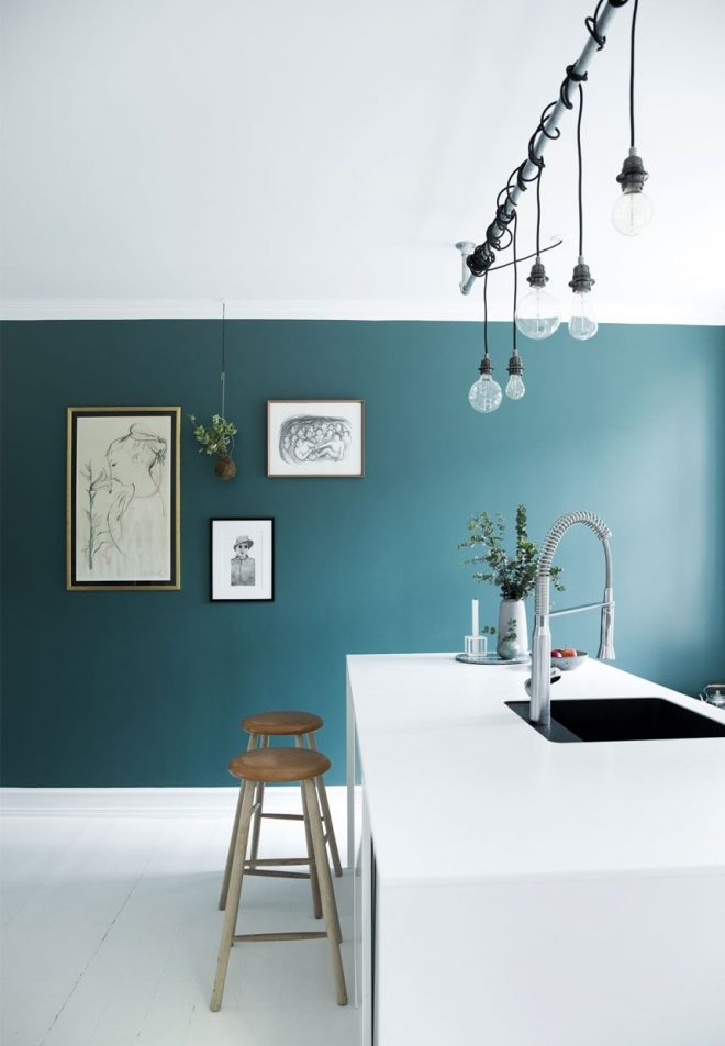 white kitchen with blue accent wall are you looking for unique and