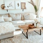 white living room modern boho sofa living room