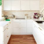 white modern small kitchen designs 2013 and gold brass
