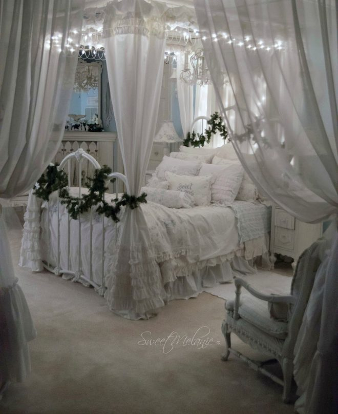 white shab chic bedroom expowest africa romantic