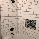 white subway tile with black grout bathroom in 2019
