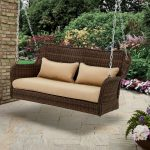 wicker porch swing outdoor hanging bench garden furniture