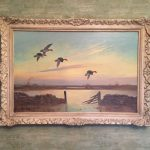 wilfred bailey english artist teal flying over the marsh