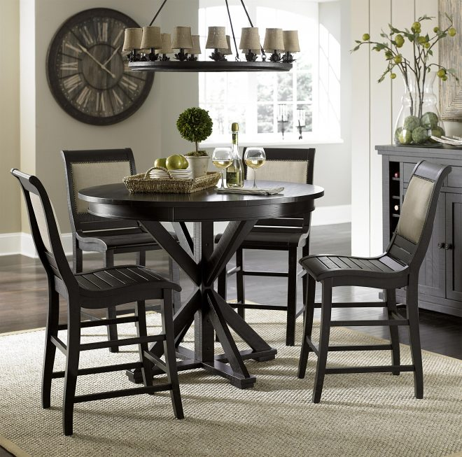 willow dining 5 piece round counter height table set