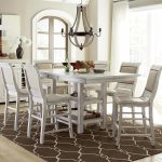 willow dining 7 piece rectangular counter height table set with uph counter chairs progressive furniture at wayside furniture