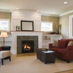 windows above built ins fireplace would have stone instead of