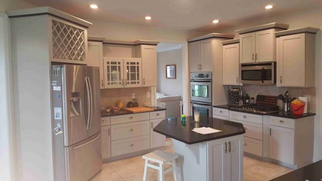winsome painting stained kitchen cabinets white color paint