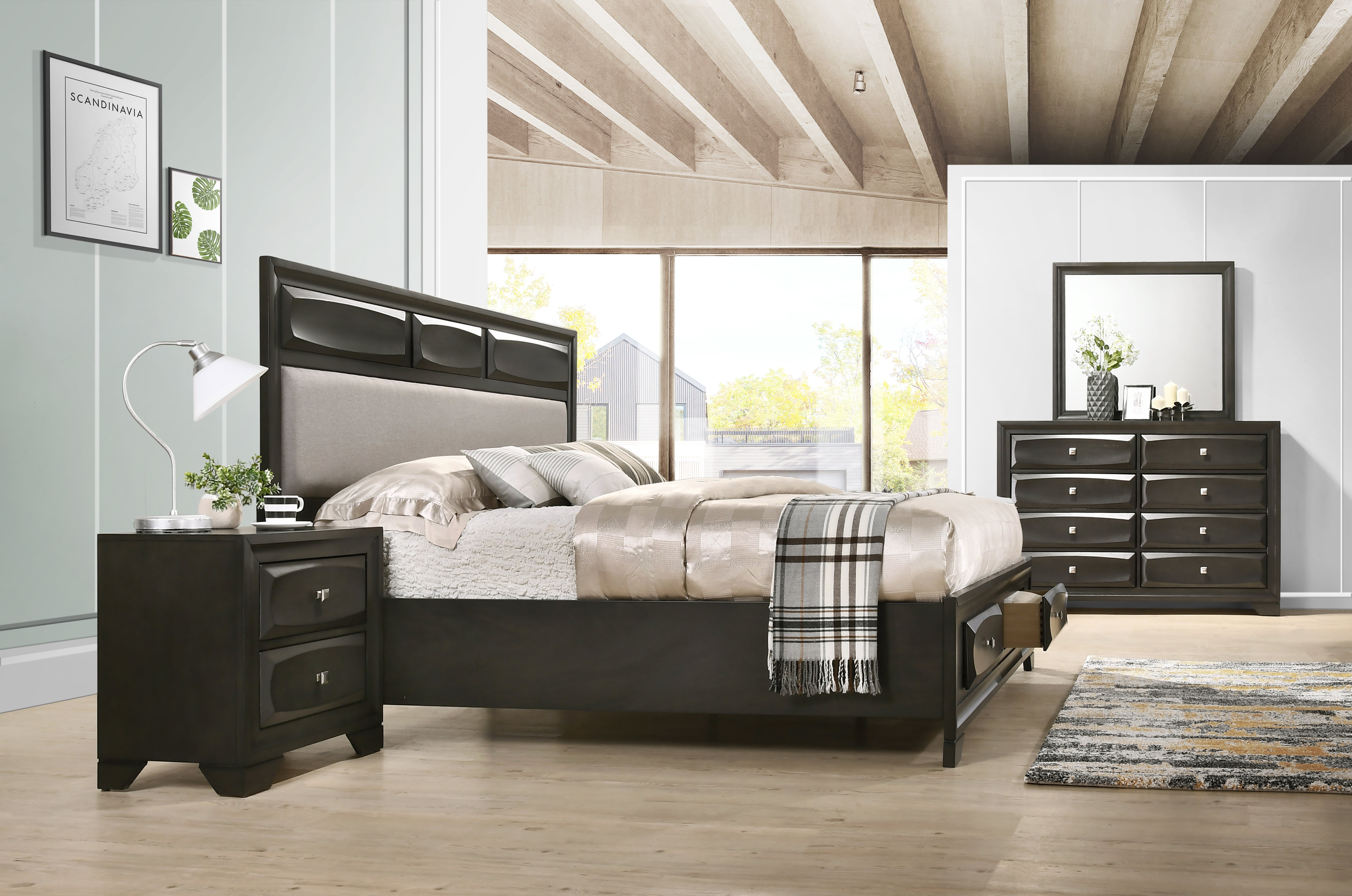winston porter beagan platform 4 piece bedroom set wayfair