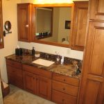 wonderful bathroom vanity with linen cabinet pertaining to interior