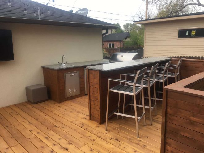wood deck with custom railing ideas and incredible outdoor