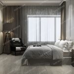wood luxury vintage modern bedroom suite in hotel 3d model
