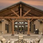 wood patio covers can provide a natural and rustic look to