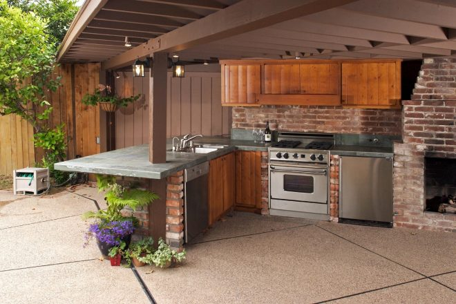 wood small outdoor kitchen home inspirations outdoor