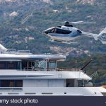 yacht helicopter stock photos yacht helicopter stock