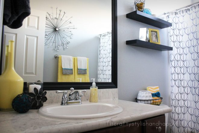 yellow and gray bathroom decor home comfort